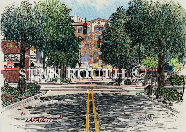 Lafayette,Louisiana Art Print-Downtown Dacquiri Shop