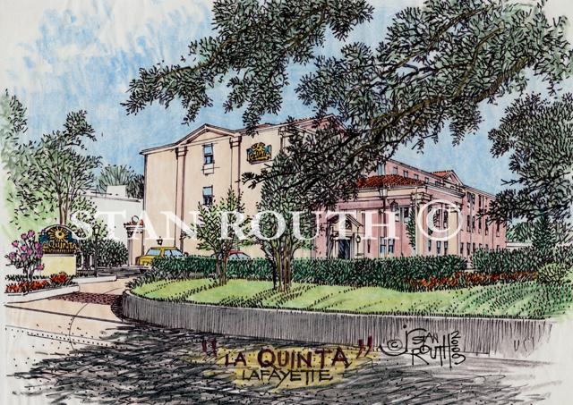 Lafayette,Louisiana Art Print-La Quinta Hotel