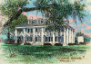 Louisiana art print-Houmas House Plantation