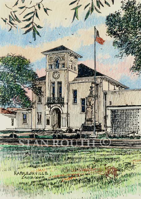 Napoleonville Courthouse - '89