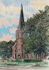 Abbeville, Louisiana Art Print - St Mary Magdalen Catholic Church