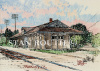 Franklin,Louisiana art print,Old Depot